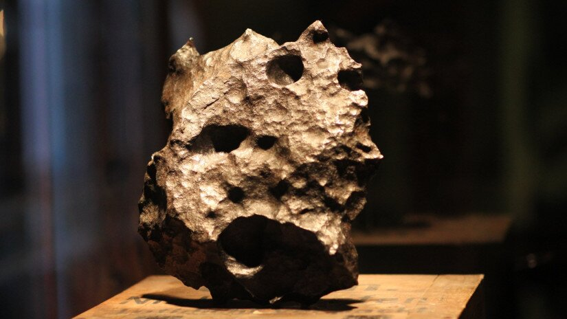 Meteorite Gibbeon in the Pannon Observatory, Bakonybél
